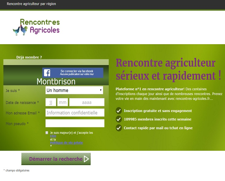 Sites de rencontres agricoles